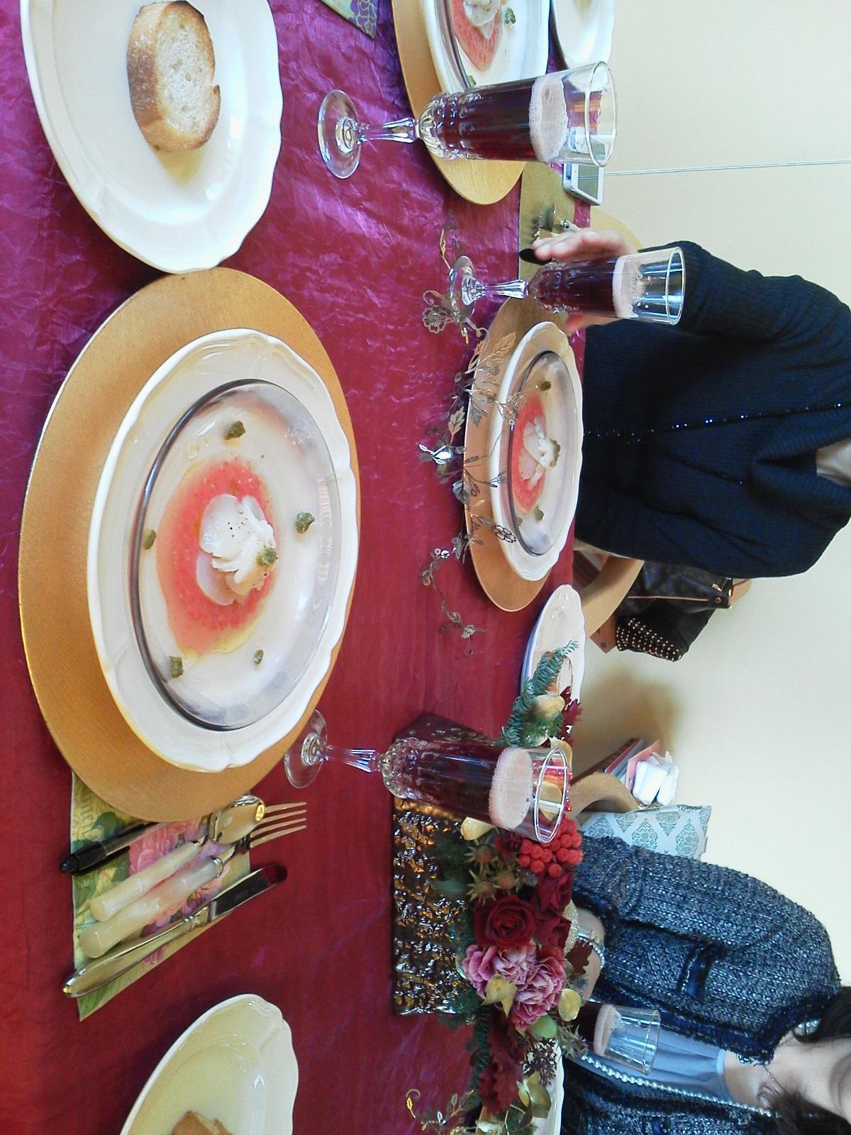 クリスマス料理のお教室へ